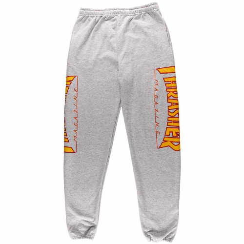THRASHER PANT FLAME SWEATPANTS GREY